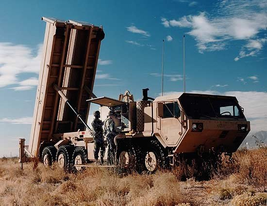 The THAAD battery will typically operate nine launch vehicles each carrying eight missiles, with two mobile tactical operations centers (TOCs) and a ground-based radar (GBR).