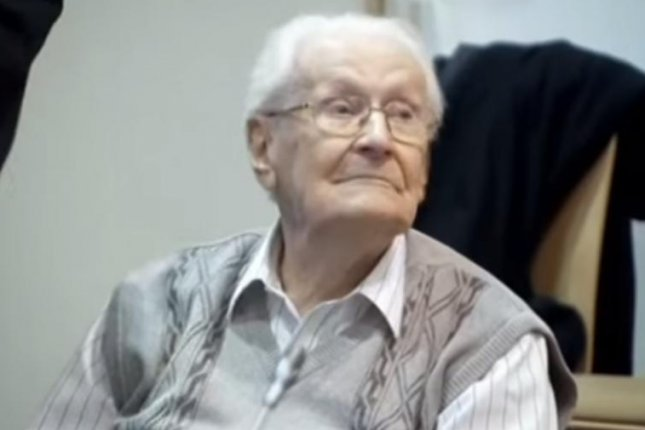 Former Nazi officer Oskar Groening was convicted of being an accessory to 300,000 counts of murder at the Auschwitz death camp. Screenshot: Ukraine Today/Youtube