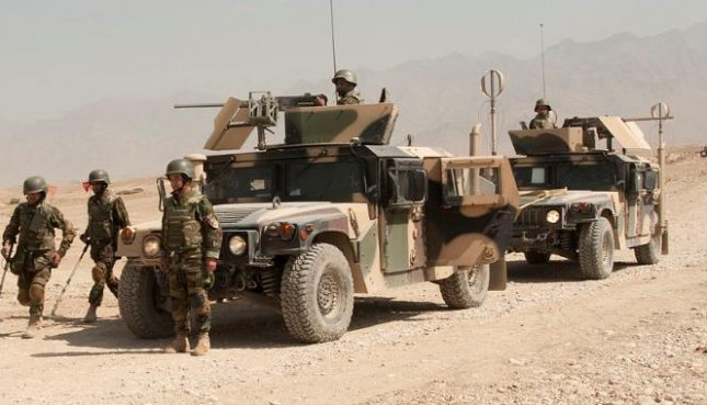 Reinforcements of the Afghan army are on their way to the provincial capital of Tarin Kot in Uruzgan province, where Taliban insurgents overran the city in a coordinated attack this week. Photo courtesy of ISAF Headquarters Public Affairs Office