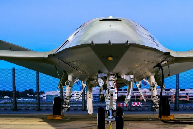 Boeing's unmanned aerial tanker aircraft system, which it unveiled in December. Photo courtesy of Boeing
