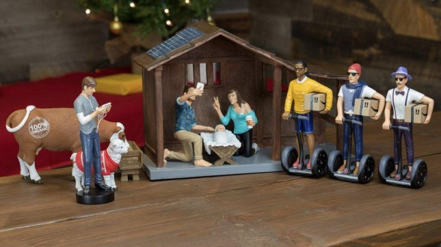 'Hipster' Nativity set depicts birth of Jesus in 2016