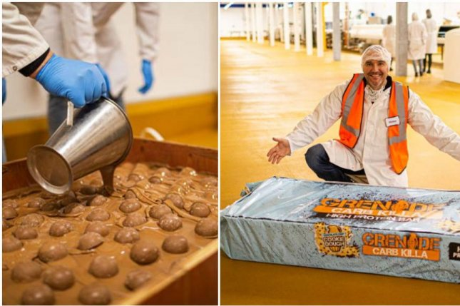 Sports nutrition company Grenade set a new Guinness World Record by creating a version of its Carb Killa protein bar that weighs nearly 530 pounds. Photo courtesy of Guinness World Records