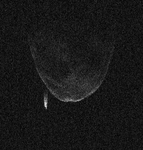 NASA gets close up look at red asteroid