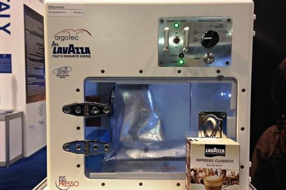 An ISSpresso model. Photo by Lavazza.