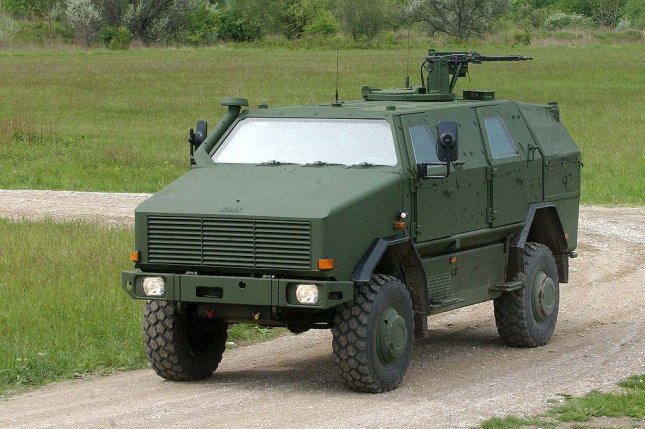 A German Dingo 2 4x4 armored vehicle. German officials say the country must rethink its arms sales to Saudi Arabia. Photo by Jonas/Wikimedia Commons