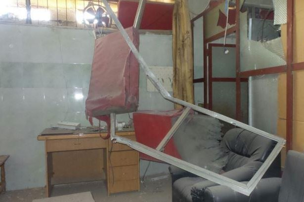 A hospital supported by humanitarian medical organization Médecins Sans Frontières in southern Syria was heavily damaged in an airstrike on Feb. 5, the group said Tuesday. Three people were killed and six were wounded in the strike, including a nurse. Photo courtesy Médecins Sans Frontières