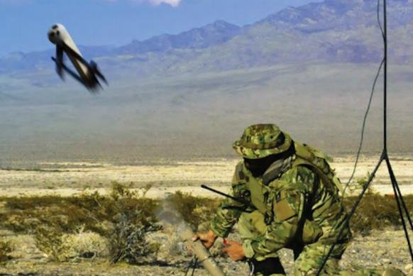 Switchblade is an expendable missile system for force protection. Photo courtesy AeroVironment