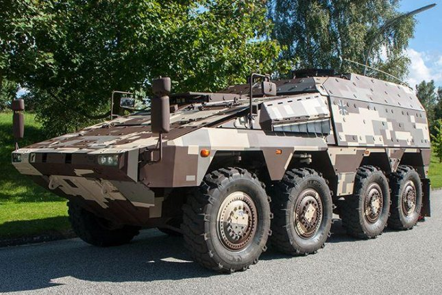 Rheinmetall BAE Systems Land, a joint venture of Britain's BAE systems and Germany's Rheinmetall, began operations on Monday with plans to produce the Boxer 8x8 military vehicle. Photo courtesy of Rheinmetall