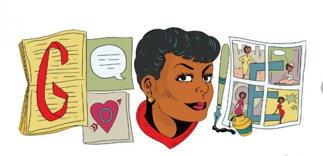 Google is paying homage to cartoonist Jackie Ormes with a new Doodle. Image courtesy of Google
