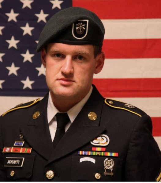 Staff Sgt. James Moriarty will be posthumously honored with the Silver Star medal on Wednesday for gallantry in action in 2016 in Jordan. Photo courtesy of USSOCOM/Twitter