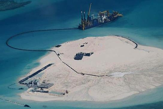 Chinau0027s Creation Of Artificial Land Through The Pumping Of Sand Onto Live  Coral Reefs Has Created 1.5 Square Miles Of Artificial Landmass, Said U.S.  Pacific ...