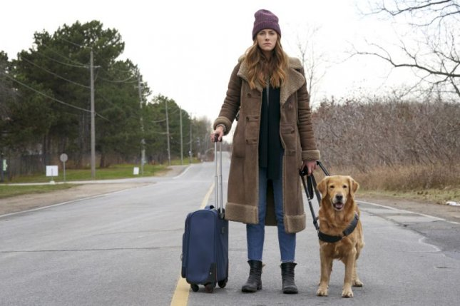 Murphy (Perry Mattfield) and her guide dog, Pretzel, are on their own in Into the Dark Season 3. Photo courtesy of The CW