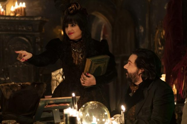 Nadja (Natasia Demetrious) and Laszlo (Matt Berry) return in What We Do In the Shadows Season 2. Photo courtesy of FX