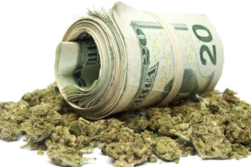 Marijuana money. (Shutterstock/UPI/Doug Shutter)