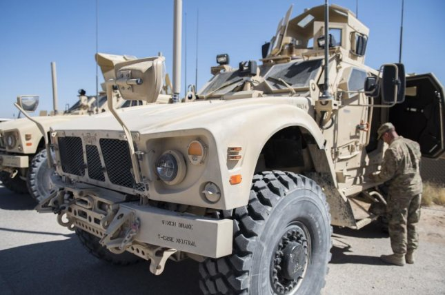 The U.S. Army M-ATV armored vehicle, pictured, is slated to mount the C-UAS counter-drone system. U.S. Army photo