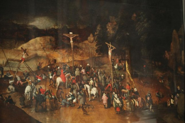 Pieter Brueghel the Younger's Crucifixion is a tourism draw at the Santa Maria Maddalena church in Castelnuovo Magra, Italy. File Photo by Mongolo1984/Wikimedia