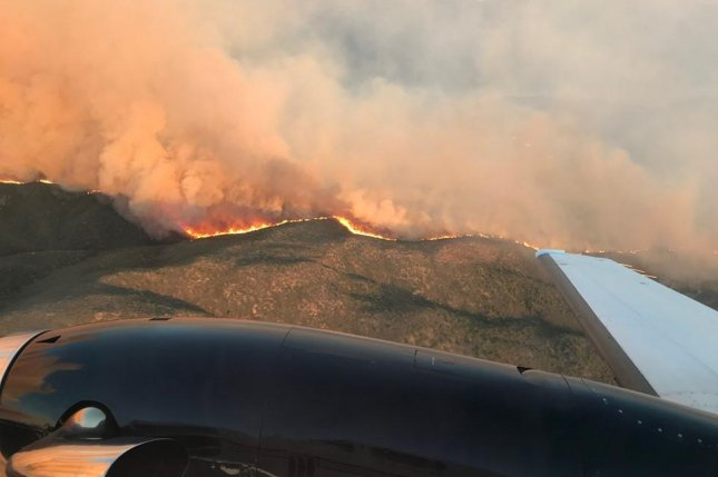 The Cellar Fire has claimed more than 7,000 acres in Arizona since it began Sunday. Photo courtesy of U.S. Fire Service/Facebook