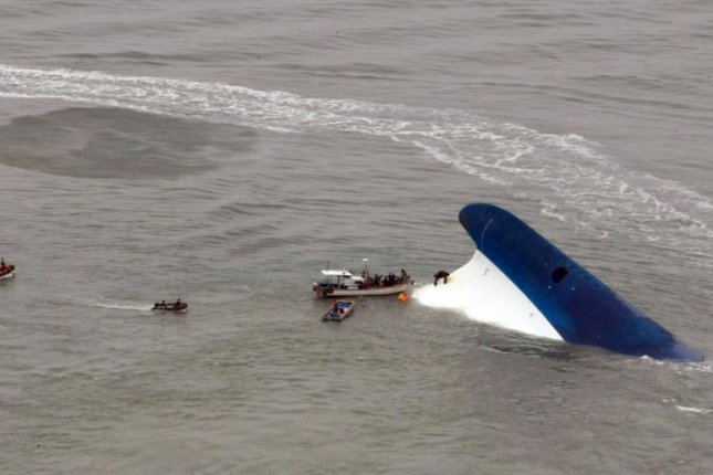 An appeals court in Gwangju, South Korea, ruled the sunken ferry Sewol was abandoned by its captain and 14 other crew members. Photo by Yonhap