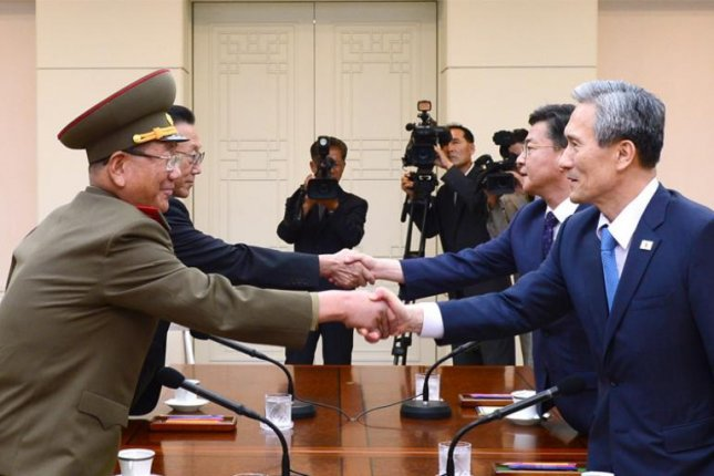 North and South Korea meeting for marathon talks in late August. The two sides are to meet on Nov. 26 for high-level talks for the first since tensions were defused at the border. File Photo courtesy of Republic of Korea Ministry of Unification