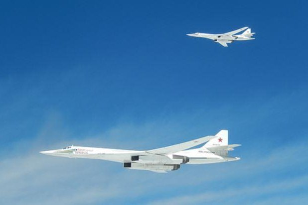 Two Russian TU-160 Blackjacks were intercepted by fighter jets from four European countries -- Norway, United Kingdom, France and Spain. Photo courtesy French Ministry of Defense