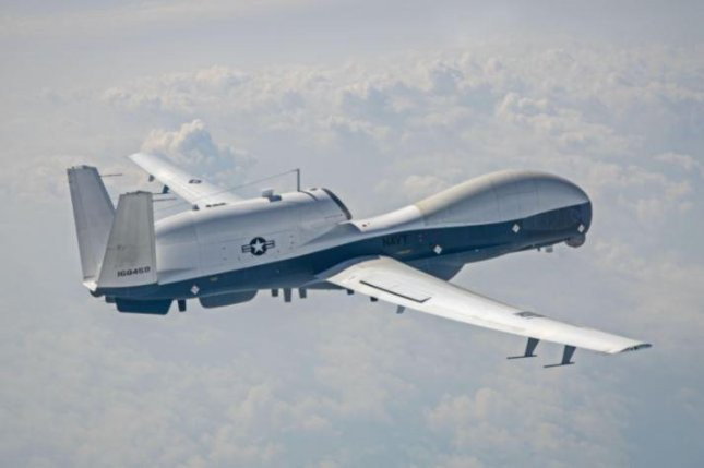 An MQ-4C Triton unmanned aerial vehicle with IFC-4-level hardware and software upgrades was successfully tested this week, the U.S. Navy announced. Photo courtesy of Northrop Grumman/U.S. Navy