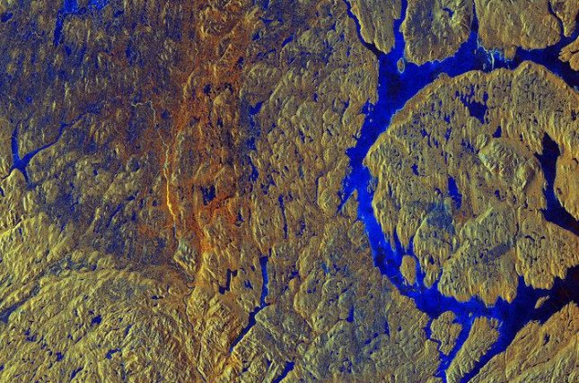 The Manicouagan Crater is the most visible crater on Earth, easily spotted from space. Photo by ESA