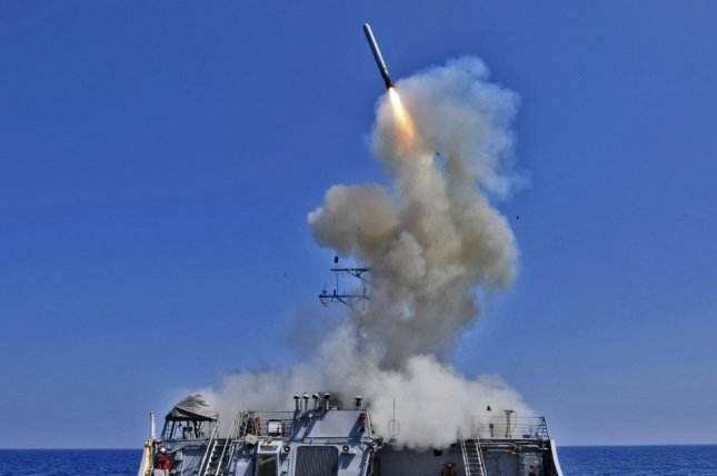 The U.S. Department of Defense plans to upgrade the Tomahawk cruise missile from a land attack to anti-ship version, allowing it to be used against moving targets. U.S. Navy photo by Petty Officer 3rd Class Jonathan Sunderman