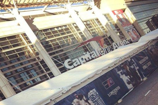 The Capital One Arena in Washington, D.C., will have a new area where fans can place bets at a sportsbook, the first of its kind in the United States. Photo by Twitter/CapitalOneArena