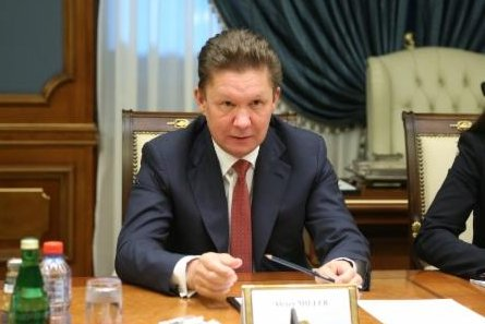 Alexei Miller, chairman of Russian energy company Gazprom, reviews gas projects for Europe with counterparts from Austria's OMV. Photo courtesy of Gazprom.