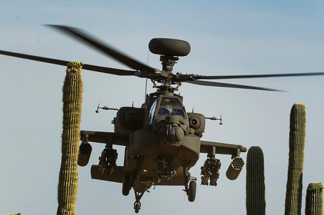 UAE's $3.5 billion foreign military sales request includes 28 remanufactured Apache AH-64E attack helicopters and associated equipment. Photo courtesy Boeing
