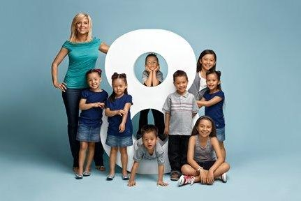 Kate Gosselin and her eight children. (TLC)