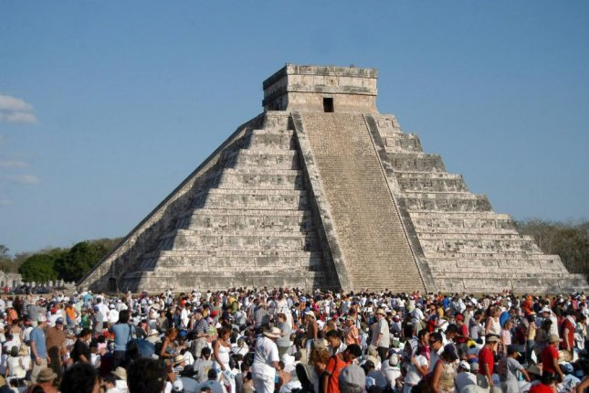 Scientists have discovered a third pyramid hiding at the center of the Temple of Kukulcan, the famed Mayan monument within the ancient city of Chichen Itza. Photo by Elizabeth Ruiz/European Pressphoto Agency