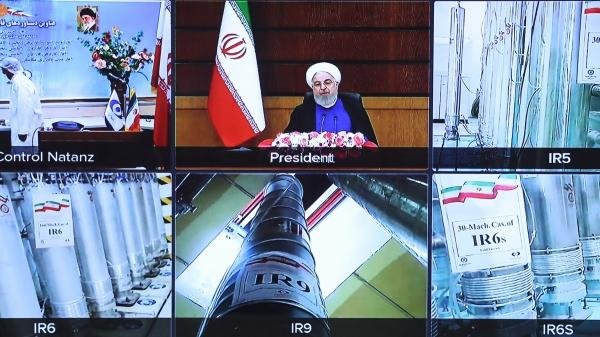 Iran's President Hassan Rouhani unveiled centrifuges to mark National Nuclear Technology Day. Photo courtesy of Official website of the President of the Islamic Republic of Iran