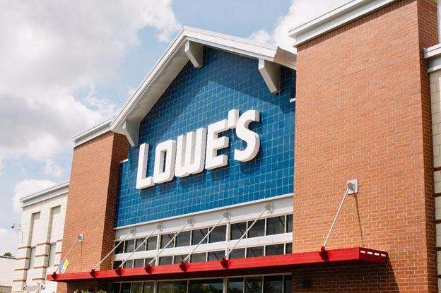 Image of the facade of local Lowe's store. The company announced Wednesday it was handing out a new round of bonuses to full-time and part-time employees in October. Photo courtesy of Lowe's