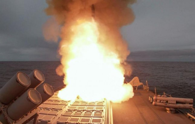 The USS Ross successfully conducted a live-fire missile exercise this week off the Scottish coast, part of the At-Sea Demo/Formidable Shield 2021 exercises. Photo courtesy of U.S. Navy