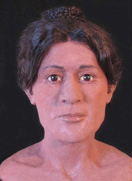 Forensic artist Victoria Lywood worked with a team of researchers to create 3D models of three ancient Egyptian mummies. This model is of a woman who died around the age of 20 nearly 2000 years ago. CT scans reveal that when she was buried her hair was tied in an elaborate pattern popular in the 2nd century AD. (Victoria Lywood)