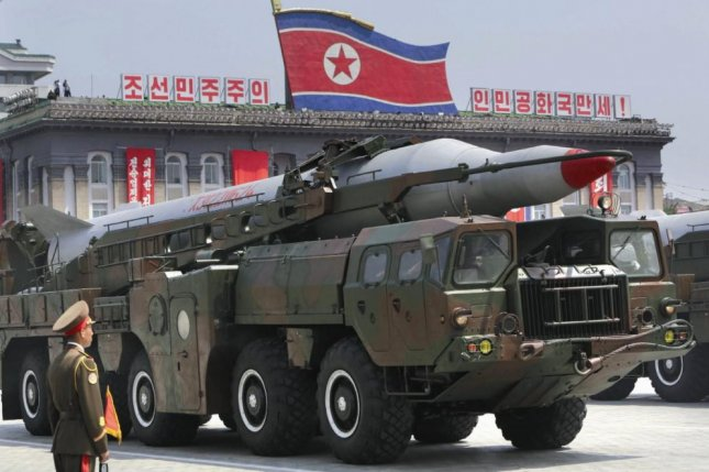 North Korea began testing the Musudan in 2007 and Pyongyang has claimed that 50 of the missiles have been placed on standby, according to a Russian military analyst on Tuesday. File Photo by KCNA
