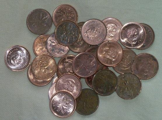 Canada will begin phasing out the use of pennies in February, 2013. UPI photo by Joseph Chrysdale.