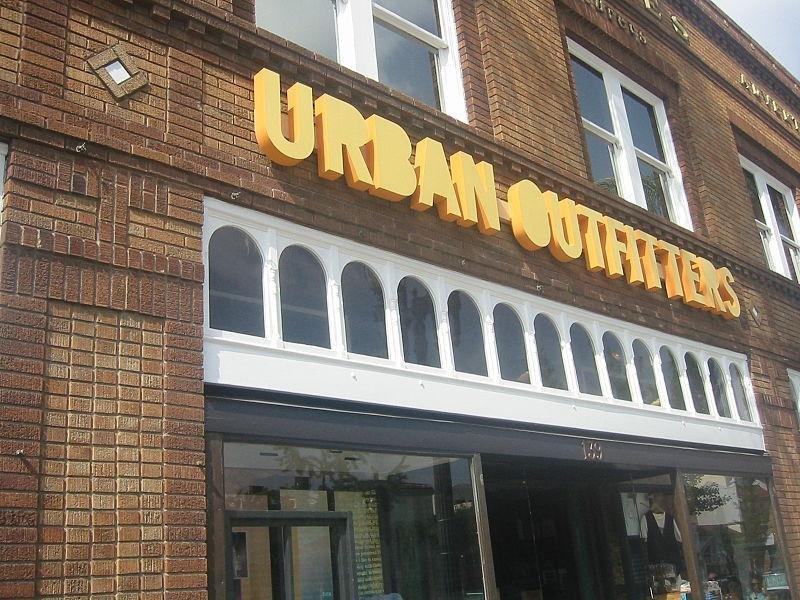 Urban Outfitters storefront. (CC/Minnaert)