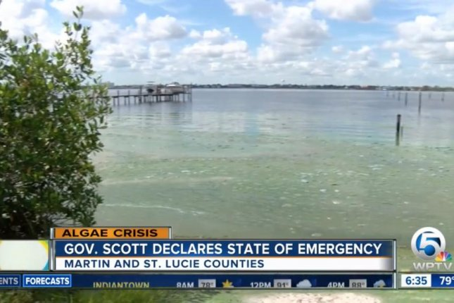 Florida Gov. Rick Scott declared a state of emergency over algae blooms in parts of South Florida. Screenshot from WFTV