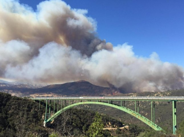 A new fire near Santa Barbara has burned at least 500 acres and prompted evacuations north of the city. Photo by Los Padres National Forest/Twitter.com