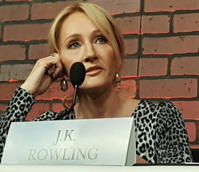 Fantastic Beasts and Where to Find Them screenwriter J.K. Rowling speaks to reporters in New York on Nov. 11, 2016. Photo by Karen Butler/UPI