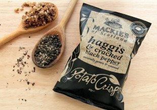 Mackie's haggis-flavored chips, courtesy of a press release from Great Scot International.