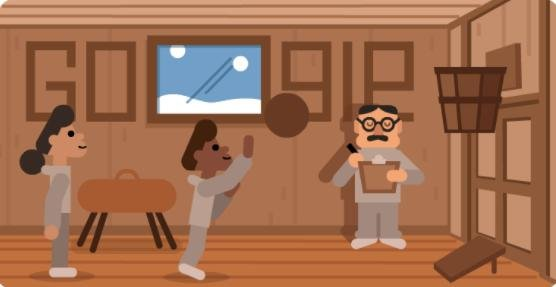 Google is paying homage to Dr. James Naismith who invented the game of basketball. Image courtesy of Google