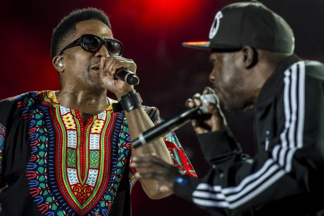 (L-R) Q-Tip pictured here with the late Phife Dawg of A Tribe Called Quest. Q-Tip will be co-teaching a jazz and hip-hop class at NYU this fall. Photo courtesy of Gian Ehrenzeller/EPA