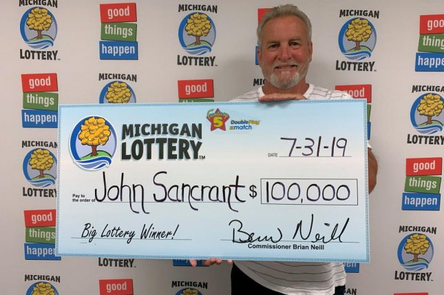 A Michigan man playing the state lottery's Fantasy 5 game won his second jackpot in the space of less than four months. Photo courtesy of the Michigan Lottery