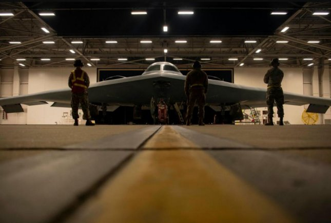 509th Aircraft Maintenance Squadron B-2 Spirit crew chiefs conduct preflight checks at Whiteman Air Force Base in Missouri in support of Global Thunder 21. Photo by SSgt. Dylan Nuckolls/USSTRATCOM