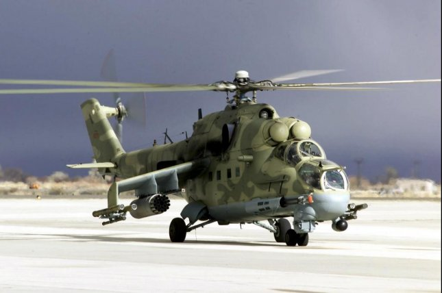 The Mi-25 is a variant of the Russian-made Mil Mi-24 attack helicopter. India intends to donate three more helicopters to Afghanistan, making four total. Photo by the U.S. Air Force