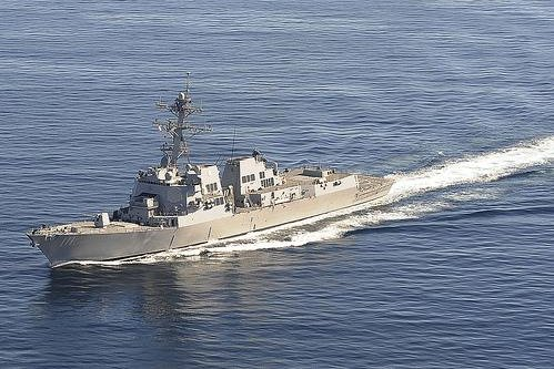 The guided-missile destroyer USS Spruance was among two ships that participated in what the U.S. Navy calls a freedom of navigation operation in the South China Sea. Photo courtesy U.S. Navy