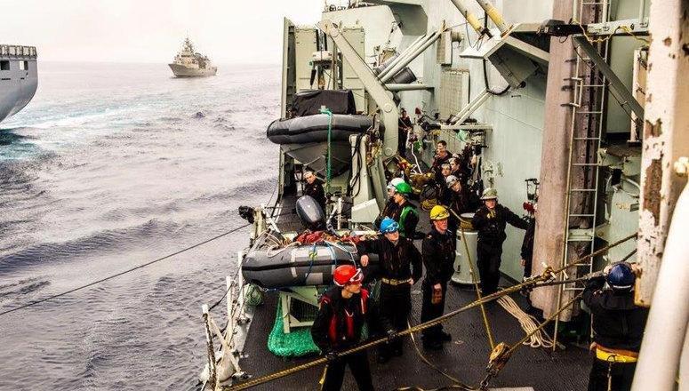 North Atlantic Treaty Organization says ships sent to the Aegean Sea to help Greece and Turkey combat human trafficking are already having an effect. Photo courtesy of NATO